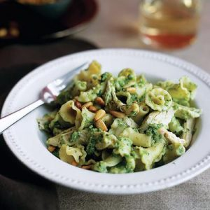 Gigli Pasta with Chicken and Pea-Mint Pesto