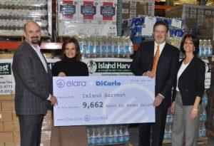 Pictured: Dan Grinberg, President at Elara; Darci Rodriguez, VP of Sales at Elara; Vincent DiCarlo Jr., VP of Purchasing & Marketing at Dicarlo; Randi Shubin Dresner, CEO at Island Harvest