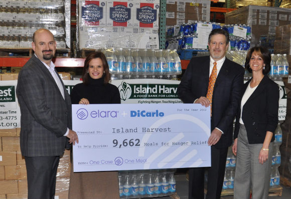 Pictured: Dan Grinberg, President at Elara; Darci Rodriguez, VP of Sales at Elara; Vincent DiCarlo Jr., VP of Purchasing & Marketing at Dicarlo; Randi Shubin Dresner, CEO at Island Harvest