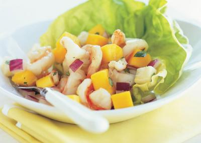 Corn, Jicama and Mango Salad with Shrimp